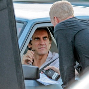 Exclusive - Jake Gyllenhaal Films Scenes For 'Nightcrawler'